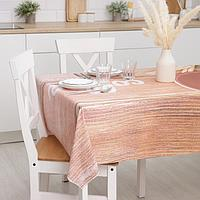 Клеёнка столовая на ткани 'Кофе', рулон 10 скатертей, размер 140x180 см