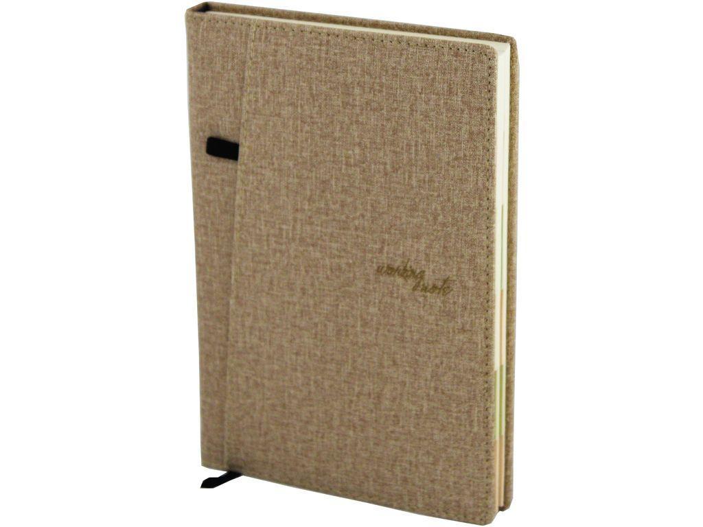 """Ежедневник """"Heeton"""" недатированный А5, 240 страниц, с карманом, с вырубкой, ассорти"""