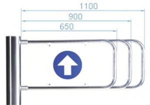 Створка калитки PERCo-AG-1100, 900 мм, для калитки PERCo-WMD-05