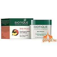 Маска-пленка для лица Персик для жирной и проблемной кожи (Bio Peach Peel Of Mask BIOTIQUE), 50гр