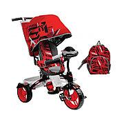 Детский трехколесный велосипед, Nika ВД5М/1S спортивный красный