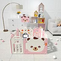 Детский манеж - ограждение Pituso Мишка Розовый