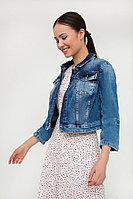 Куртка джинсовая женская Finn Flare, цвет синий, размер XL