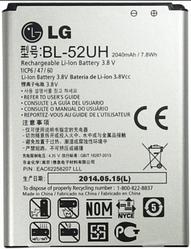 Аккумулятор для LG Optimus L70 D320 (BL-52UH, 2100mAh)