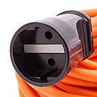 Удлинитель-шнур силовой 30 м, 10A, тип УХ10, 1 розетка, Россия Сибртех, фото 3