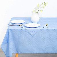 Набор 'Голубая лагуна (скатерть 140х140 см, салфетки 30х30 6 шт), трикот, 100 п/э