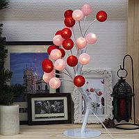 Светодиодный куст 'Розовые шарики', 20 LED, 220V, Т/БЕЛЫЙ