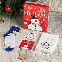 Подарочный набор 'Holidays' полотенце 30х60 см и носки