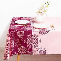 Скатерть 'Розовый фламинго' 130*180 см, трикот, 100 п/э