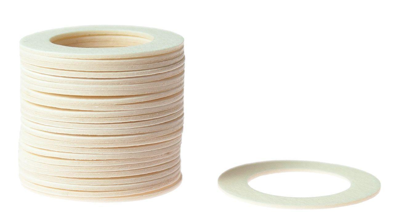 Weekend Кольцо пластиковое для шафта упаковка 25 шт. (белое, 0.8мм, н/д 25мм, в/д 16мм)