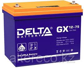 Гелевый аккумулятор Delta GX 12-75 (12В, 75Ач)