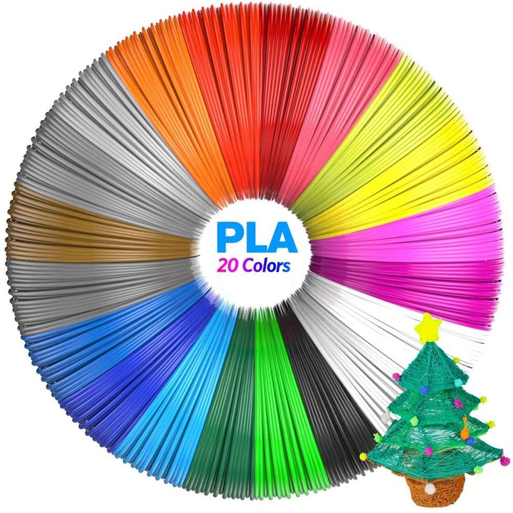 PLA пластик для 3Д ручки 20 цветов по 5 м,