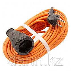 Удлинитель-шнур силовой 20 м, 16А, тип УХ16, ПВС, 1 розетка без заземления Сибртех