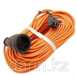 Удлинитель-шнур силовой 30 м, 16А, тип УХ16, ПВС, 1 розетка без заземления Сибртех