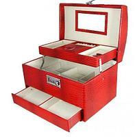 Шкатулка-трансформер для украшений и косметики «Моя прелесть» с автооткрыванием (Красный)
