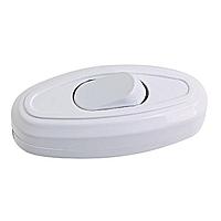 Выключатель для бра и торшеров белый и черный цвет 6А 250В  ALFA