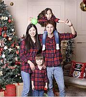 Клетчатые рубашки для всей семьи