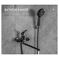 Смеситель ванна-душевой FRAP F2249-6 Черный/Хром