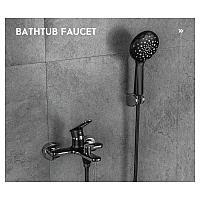 Смеситель ванна-душевой FRAP H49-6 F3249-6 Черный/Хром