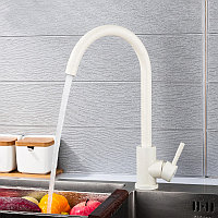 Смеситель для кухни Frap F40899-1 (Белый)