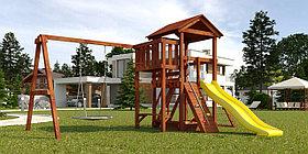 """Детская площадка """"Савушка Мастер"""" - 2 с качелями """"Гнездо"""" 1 метр (покрашенный)"""