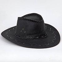 Ковбойская шляпа под замш, черная. для всех.