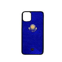 Защитный чехол для iPhone 12 Pro Max карбоновый, синий
