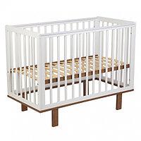 Кроватка детская Polini kids Simple 340 белый- дуб