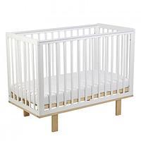 Кроватка детская Polini kids Simple 340 белый- натуральный