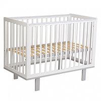 Кроватка детская Polini kids Simple 340 белый- серый