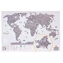 Большая скретч-карта мира True Map Plus Silver
