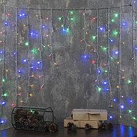 """Гирлянда """"Бахрома-арка"""" 1 х 1 м , IP20, прозрачная нить, 126 LED, свечение мульти, 8 режимов, 220 В"""
