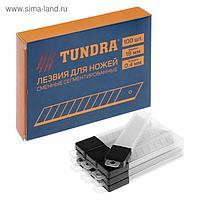 Лезвия для ножей TUNDRA, сегментированные, 18 х 0.4 мм, 10 контейнеров по 10 лезвий, 100 шт.