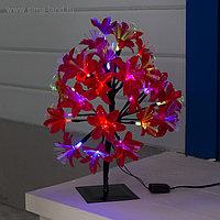 """Светодиодный куст улич. 0.3 м, """"Лилия красная"""", 32 LED, 220V, моргает RG/RB"""