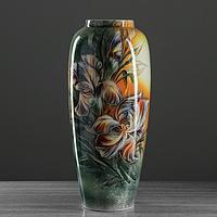 "Ваза напольная ""Дана"", цветы, роспись, 61 см, керамика"