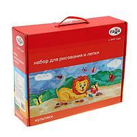 Набор для рисования и лепки «Гамма» «Мультики», 12 предметов, в подарочной коробке
