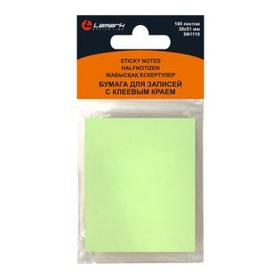 Бумага для заметок Lamark с клеевым краем 38*50, 100 листов, зеленая пастель