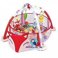Развивающий коврик «Лисенок», 3 в 1, игрушки, 30 цв. шаров, р - р 94х69х54 см.