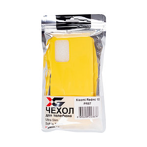 Чехол для телефона X-Game XG-PR87 для Redmi 10 TPU Жёлтый
