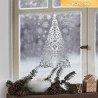 Наклейки виниловые с фольгированием 'Снежная сказка', 30 х 50 см