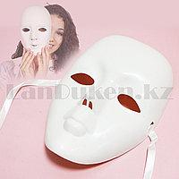Венецианская карнавальная маска белая 20*21 см