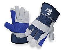 Спилковые комбинированные перчатки