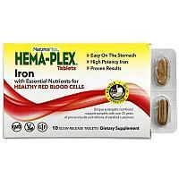 БАД Nature's Plus, Hema-Plex (10 таблеток с длительным высвобождением)