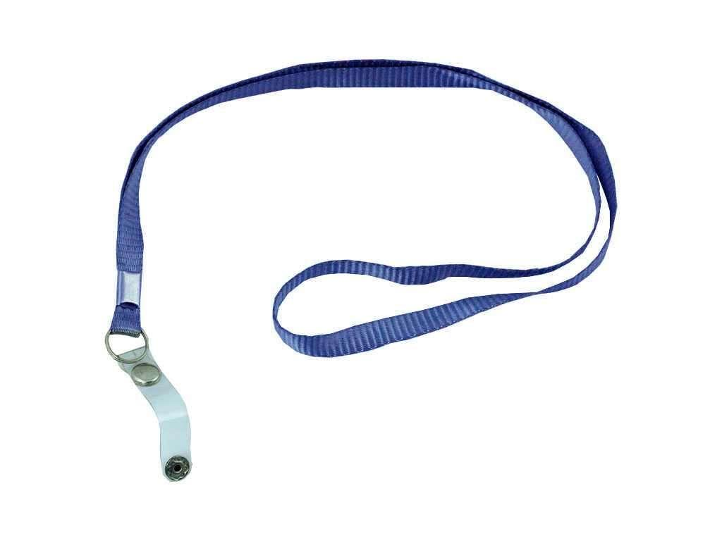 Шнурок для бейджа Shuter, зажим на кнопке, длина 45 см, синий