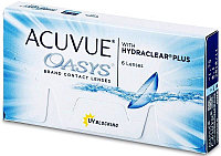 ACUVUE OASYS® with HYDRACLEAR® PLUS, от -0,50 до -12,00. 6 блистеров