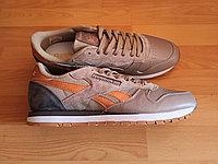 Кроссовки мужские REEBOK Classic beige/grey 45 размер кожаные
