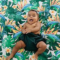 701305 Муслиновая пеленка LUSH GARDEN 120*120 см (70% бамбук, 30% хлопок)