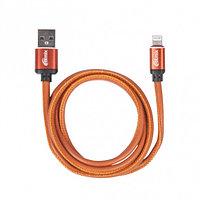 Кабель Apple Ritmix RCC-425 lightning-USB 2.5 A Leather