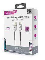 Кабель OLMIO HD, USB 2.0 - lightning, 1.2м, 2.1A, белый
