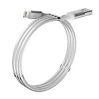 Кабель Olmio Magnet Lightning белый